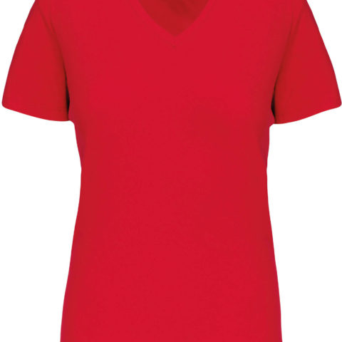 tee-shirt-femme-col-v-bio-rouge